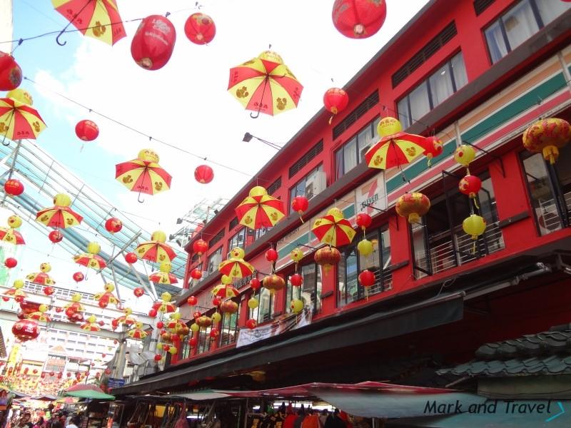 Chinatown KL kolory, dekoracje