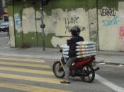 Motorower na ulicach KL