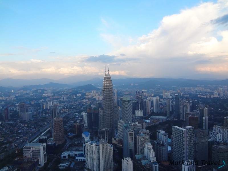 Widok z Menara Kuala Lumpur - dzień