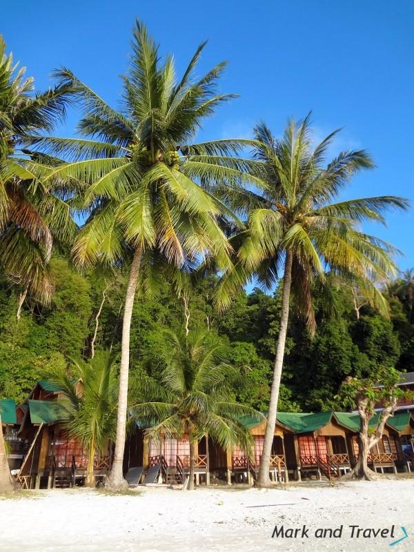 Perhentian Besar, palmy,domki