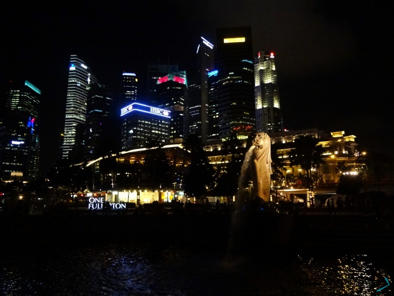 Merlion Park Singapore, night