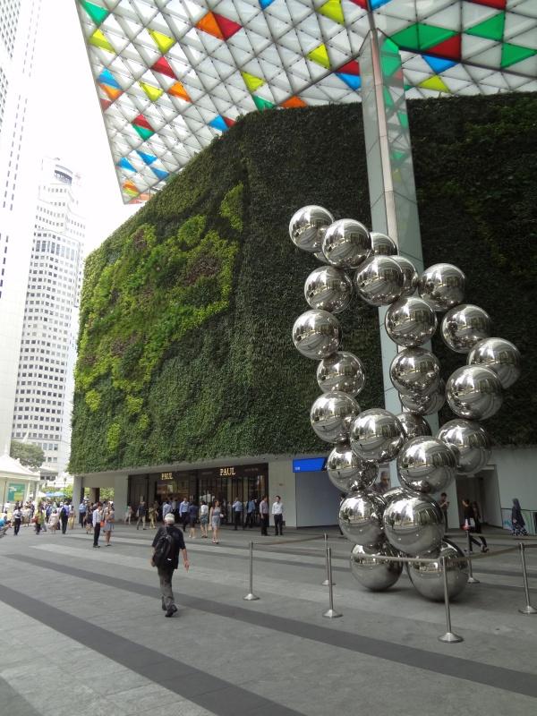 Singapur - CBD - zieleń budynku