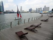 Singapur Marina Bay leżaki, promenada