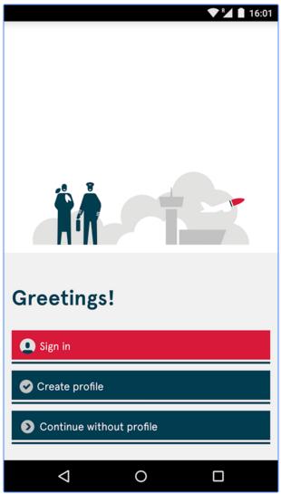 Norwegian App screen
