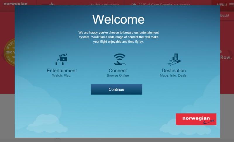 Welcome Norwegian WiFi