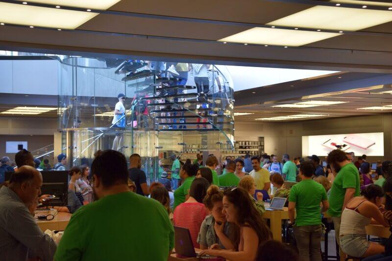Apple NY wnętrze