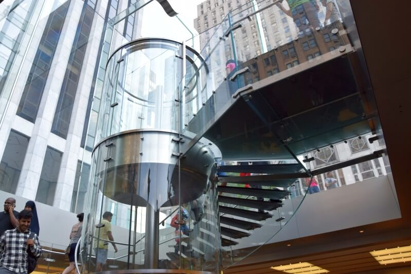 apple ny stairs