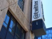 Twitter logo building