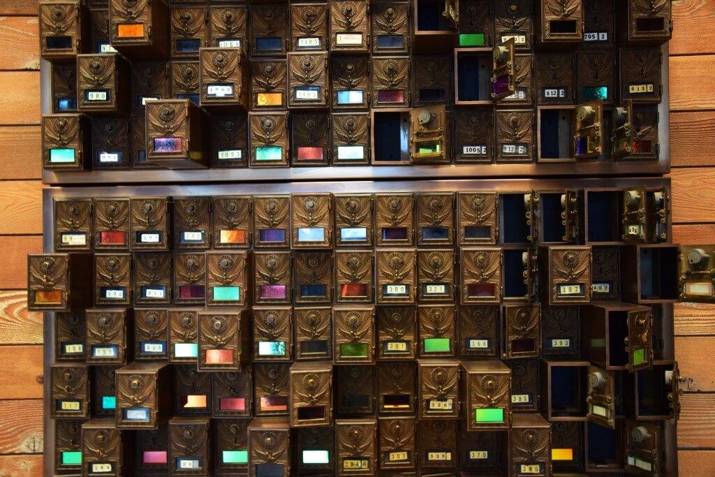 Art Deco mailboxes