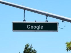 Google sign 250px