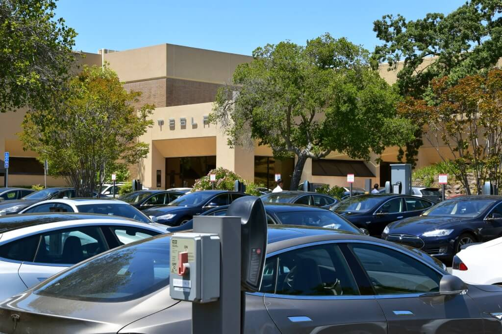 Tesla HQ parking